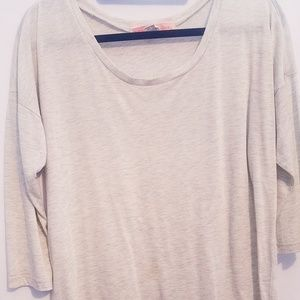 3/4 length heather top